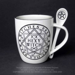 Alchemy Gothic ALMUG15 Hexy Witch: Mug and Spoon Set