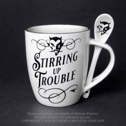 New Release! Alchemy Gothic ALMUG17 Stirring up Trouble: Mug and Spoon Set