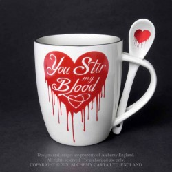 New Release! Alchemy Gothic ALMUG18 You Stir My Blood: Mug and Spoon Set