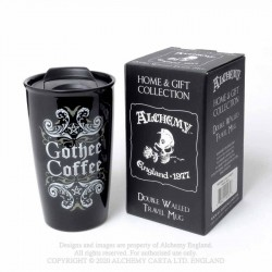 New Release! Alchemy Gothic MRDWM2 Gothee Coffee: Double Walled Mug