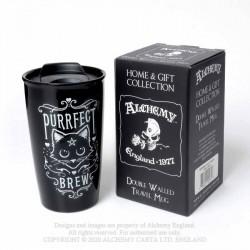Alchemy Gothic MRDWM3 Purrfect Brew: Double Walled Mug