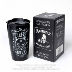 New Release! Alchemy Gothic MRDWM3 Purrfect Brew: Double Walled Mug
