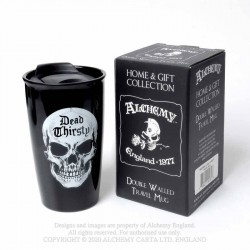New Release! Alchemy Gothic MRDWM4 Dead Thirsty: Double Walled Mug
