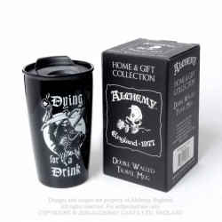 New Release! Alchemy Gothic MRDWM5 Dying for a Drink: Double Walled Mug