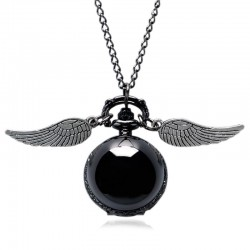 [Special Order] Harry Potter Golden Snitch Black Fob Pocket Watch