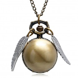 [Special Order] Harry Potter Golden Snitch Bronze Smooth Fob Pocket Watch