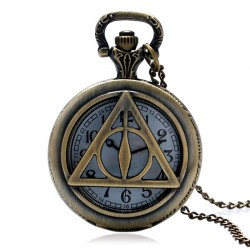 [On Demand] Harry Potter Deathly Hallows Bronze Fob Pocket Watch