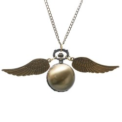 [On Demand] Harry Potter Golden Snitch Bronze Smooth Bronze Wings Fob Pocket Watch