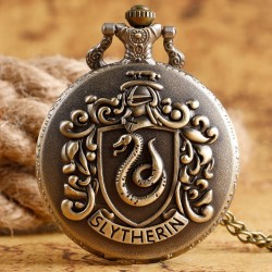 [On Demand] Harry Potter Hogwarts School Badge Bronze Fob Pocket Watch