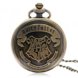 [On Demand] Harry Potter Hogwarts School Emblem Badge Bronze Fob Pocket Watch
