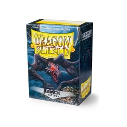 Dragon Shield Matte Standard Size Card Sleeves - Black (100)
