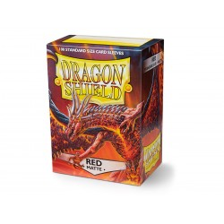 Dragon Shield Matte Standard Size Card Sleeves - Red (100)