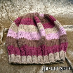MHM Hues of Pink, Purple & Brown Slouchy Beanie