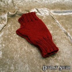 Kynthia's Purls Ruby Red Fingerless Gloves - pair