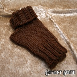 Kynthia's Purls Brown Fingerless Gloves - pair (Size: Kids)