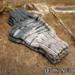 Kynthia's Purls Grey Fingerless Gloves - pair (Size: Small)