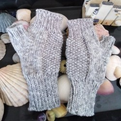 Feels like Cashmere Grey Fingerless Gloves - pair