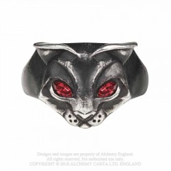 Alchemy Gothic AG-R224 Bastet Goddess ring