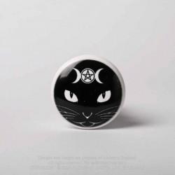New Release! Alchemy Gothic RGBS4 Triple Moon Cat Bottle Stopper