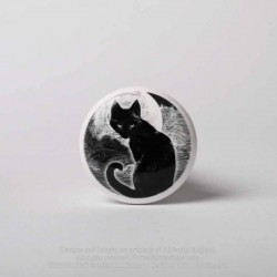 New Release! Alchemy Gothic RGBS5 Black Cat Bottle Stopper