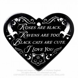 Alchemy Gothic CT11 Roses Are Black - Poetic Heart Trivet