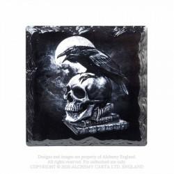 Alchemy Gothic CC12 Poe's Raven Individual Ceramic Coaster