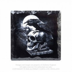 New Release! Alchemy Gothic CC12 Poe's Raven Individual Ceramic Coaster