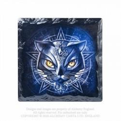 Alchemy Gothic CC13 Sacred Cat Individual Ceramic Coaster