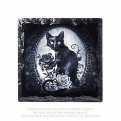 New Release! Alchemy Gothic CC14 Paracelsus' - Cat Roses Individual Ceramic Coaster