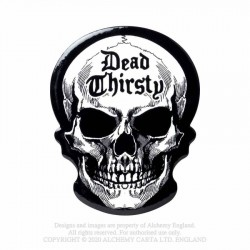 New Release! Alchemy Gothic CC15 Dead Thirsty Skull Individual Ceramic Coaster