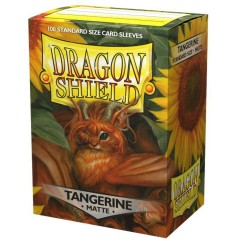 Dragon Shield Matte Standard Size Card Sleeves - Tangerine (100)