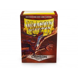 Dragon Shield Matte Standard Size Card Sleeves - Crimson (100)