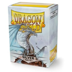 Dragon Shield Matte Standard Size Card Sleeves - Silver (100)