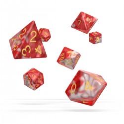 oakie doakie DICE RPG Set Gemidice: Red Sky (7)
