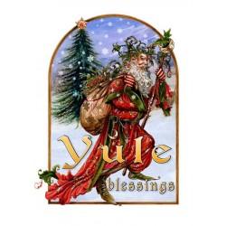 """Yuletide 'Christmas' Wiccan Pagan Greeting Card - Yule Herne Midwinter """"Yule Blessings"""""""