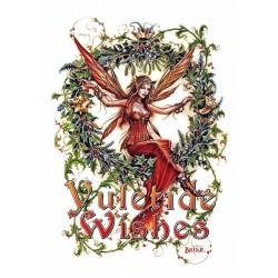 "Yuletide 'Christmas' Wiccan Pagan Greeting Card - Mistletoe Fairy ""Yuletide Wishes"""