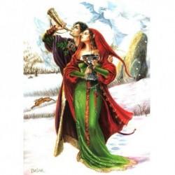 Yuletide 'Christmas' Wiccan Pagan Greeting Card - Welcoming Yule