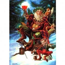 Yuletide 'Christmas' Wiccan Pagan Greeting Card - Festive Druid