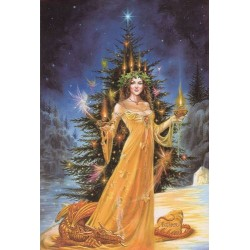 Yuletide 'Christmas' Wiccan Pagan Greeting Card - Lady of the Lights