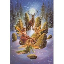 Yuletide 'Christmas' Wiccan Pagan Greeting Card - Yule Stag