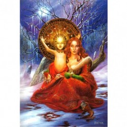 Yuletide 'Christmas' Wiccan Pagan Greeting Card - Child of Promise