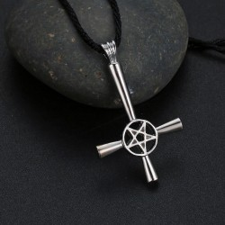 [On Demand] Inverted Cross Necklace - Zinc Alloy