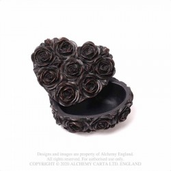 Alchemy Gothic SA19 Rose Heart Box - Black
