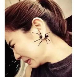 Black Spider Single Earring