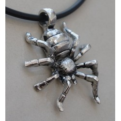 Spider Pewter Pendant Necklace