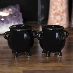 Black Magic Cauldron Cruet Set