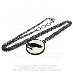 Last Chance! Alchemy Gothic P735 Caw at the Moon Pewter Pendant