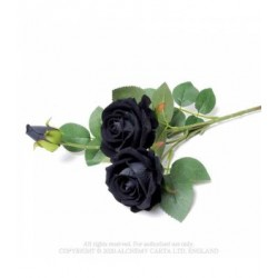 Alchemy Gothic ROSE8 Black Rose Spray