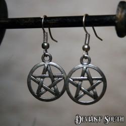 Deviant South Pentagram Earrings (pair)