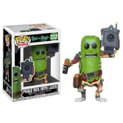 Funko Pop! Animation: Rick and Morty - 332 Pickle Rick with Laser vinyl figure